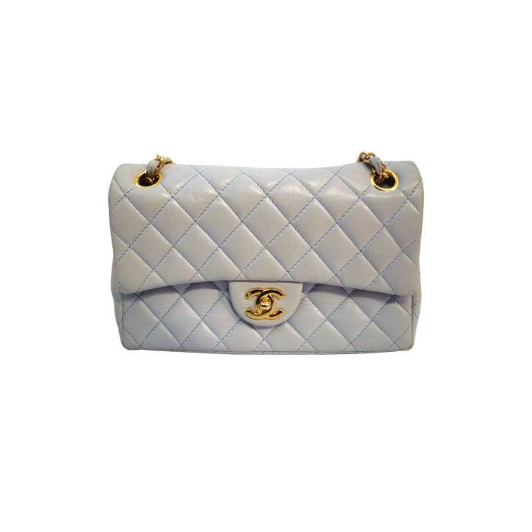 Chanel 2.55 Quilted Envelope Shoulder Bag in Pale Blue 1