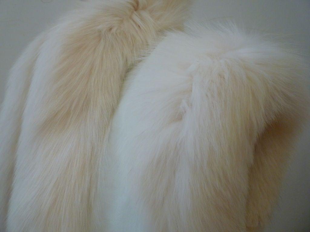 Oscar De la Renta Reversible White Mink Fox and Leather Vest For Sale 4