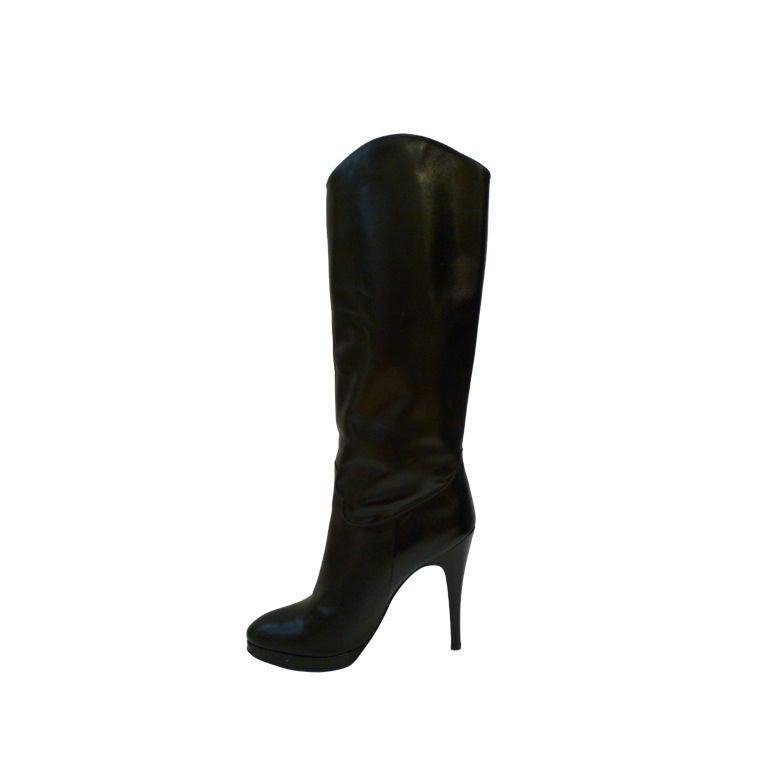 Classic Stiletto Boot w/ Platform Paris 80s 1
