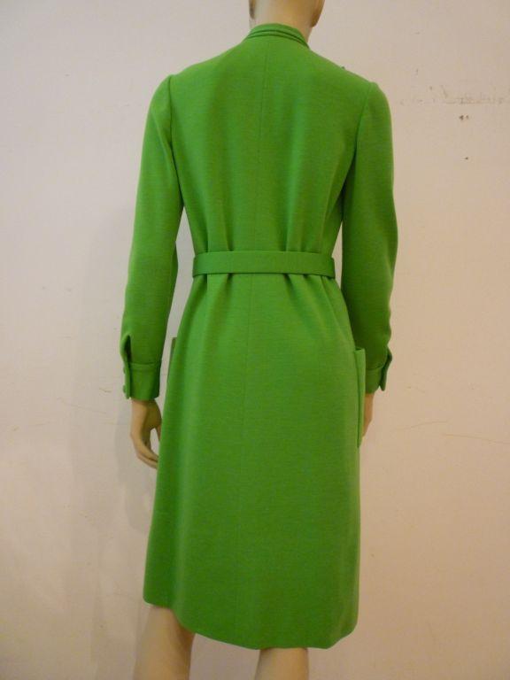 Norman norell for bonwit teller 60s apple green knit day for Apple green dress shirt