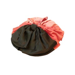 Wonderful 40s Satin Bow Tilt Hat - New York Creations