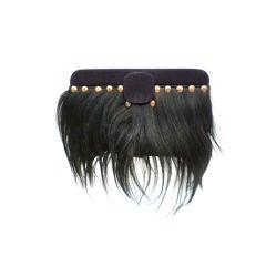 40s Avant Guarde Box Bag - Fur Embellished