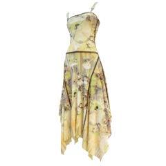 Jean Paul Gaultier 80s Tulle  Dress w/ Degas Ballet Print