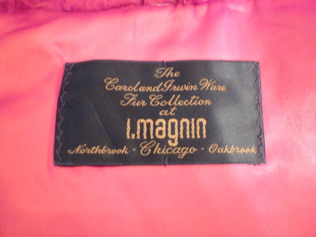 I. Magnin 80s Vibrant Red Mongolian Lamb Chubby Jacket 5