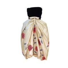 Bob Bugnand 60s Silk Embroidered Bubble Dress