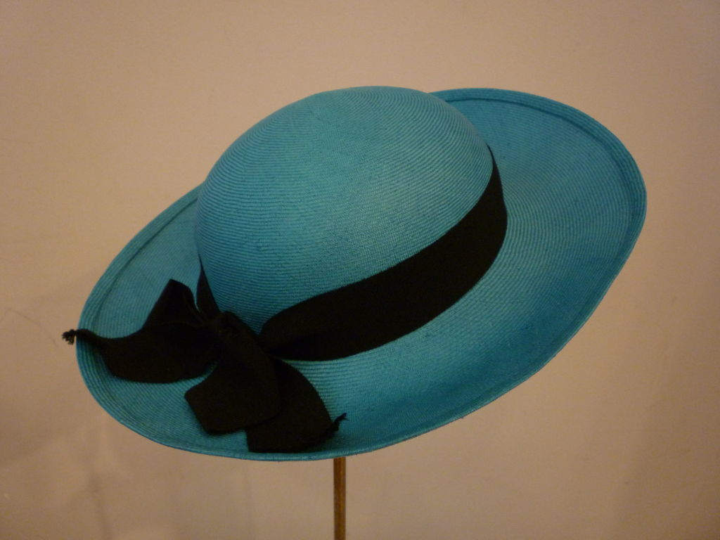 Chanel Genuine Straw Hat in Brilliant Turquoise 6