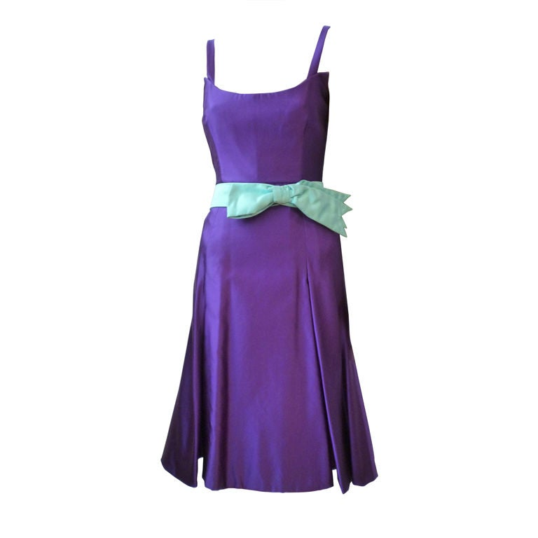 Christian lacroix royal purple cocktail dress w full for Royal purple mens dress shirts