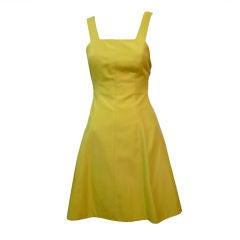 Claude Montana 80s Yellow Summer Sun Dress