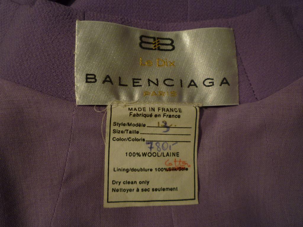 Balenciaga Le Dix 4-Piece Lilac Crepe Coat./Vest/Short/Skirt Ens image 7