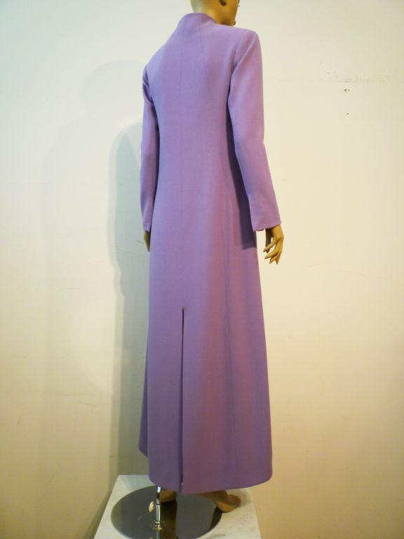 Balenciaga Le Dix 4-Piece Lilac Crepe Coat./Vest/Short/Skirt Ens image 2