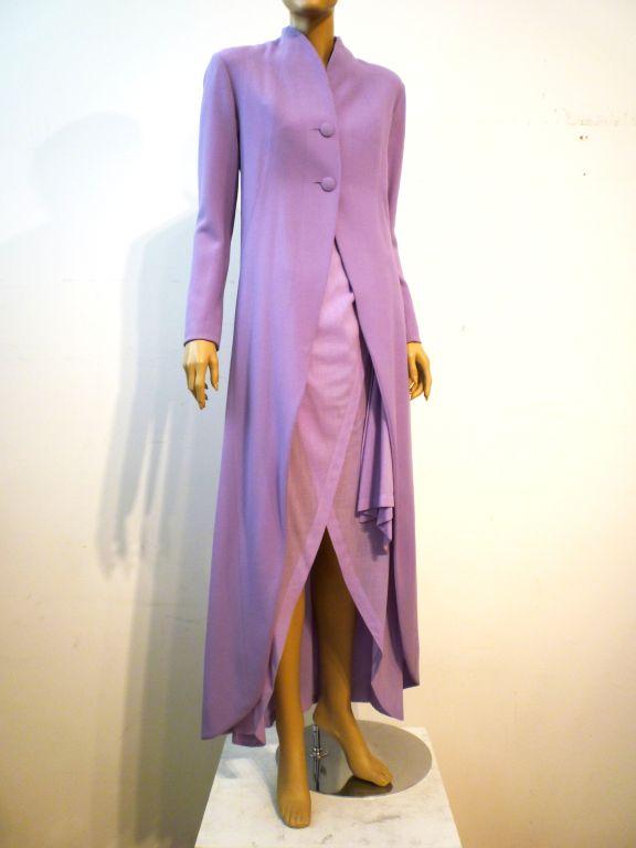 Balenciaga Le Dix 4-Piece Lilac Crepe Coat./Vest/Short/Skirt Ens image 8