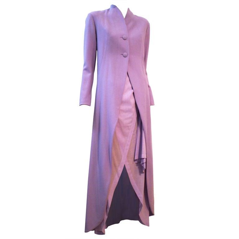 Balenciaga Le Dix 4-Piece Lilac Crepe Coat./Vest/Short/Skirt Ens