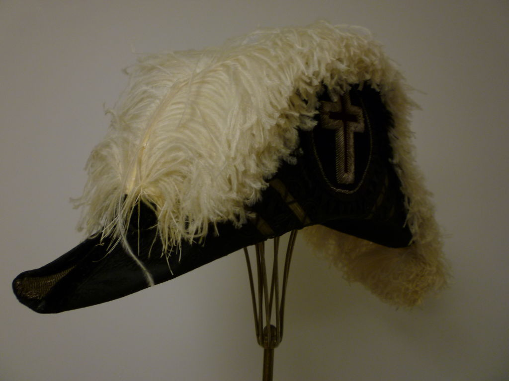 Antique Admiral  Hat with Elaborate Ostrich Feather 2