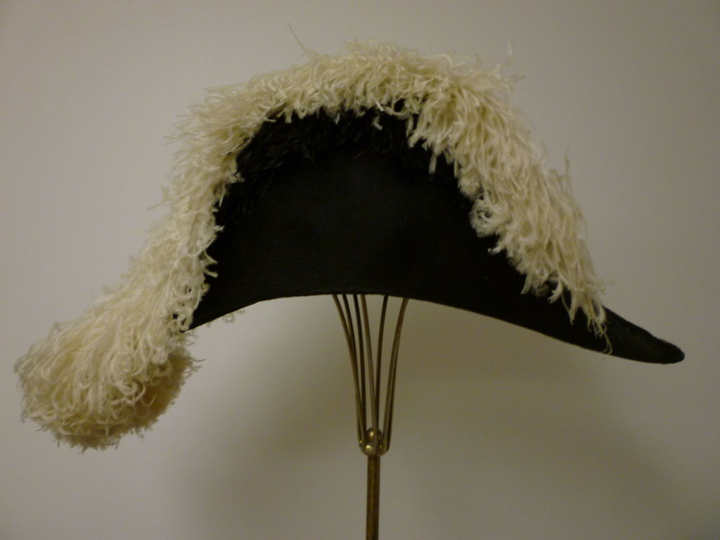 Antique Admiral  Hat with Elaborate Ostrich Feather 4