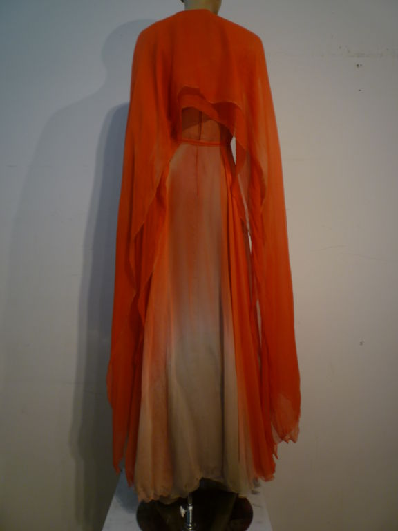 Alfred Bosand Ombré Silk Chiffon 2-Piece Gown image 3