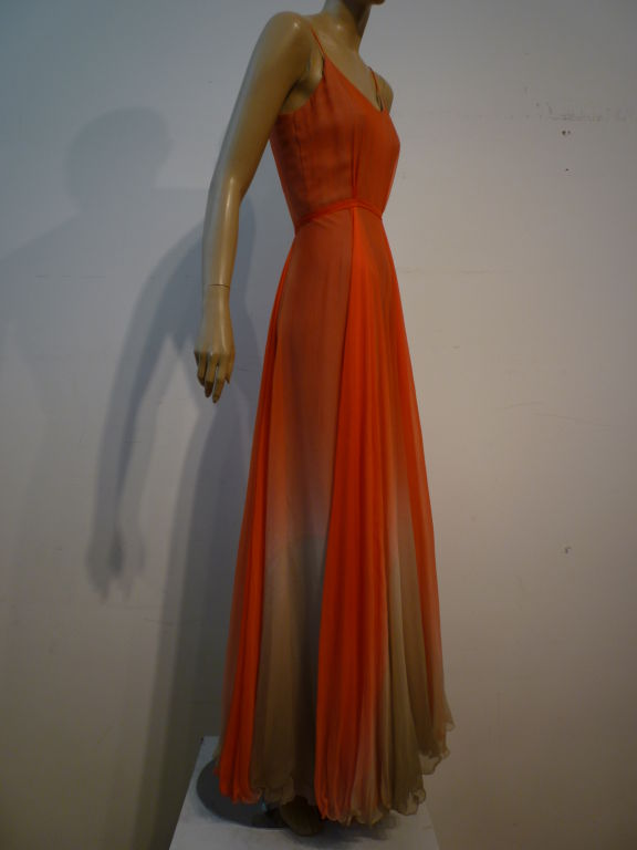 Alfred Bosand Ombré Silk Chiffon 2-Piece Gown image 5