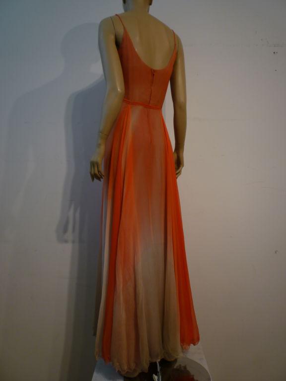 Alfred Bosand Ombré Silk Chiffon 2-Piece Gown 6