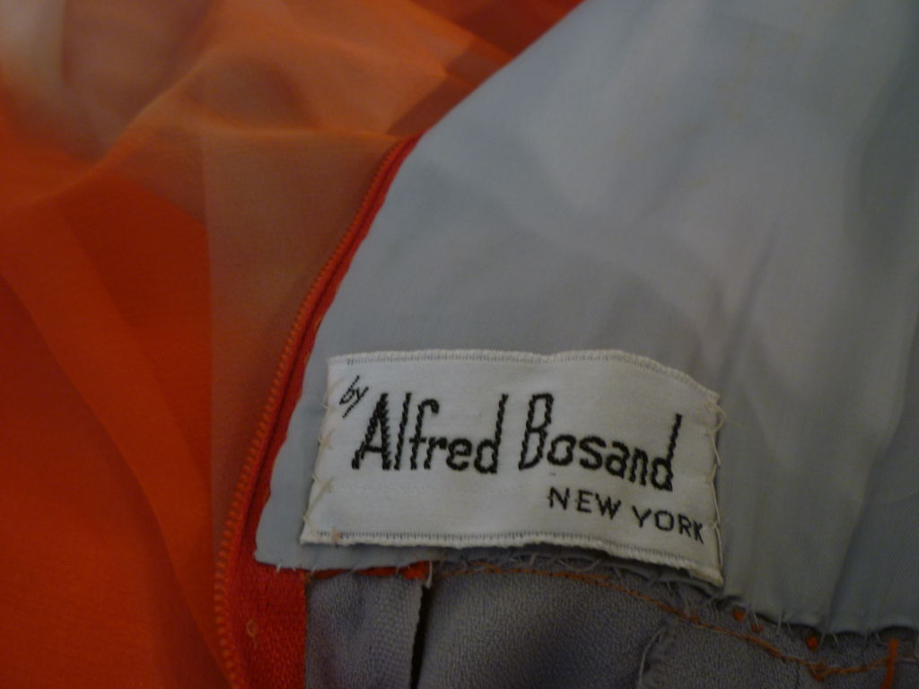 Alfred Bosand Ombré Silk Chiffon 2-Piece Gown 7