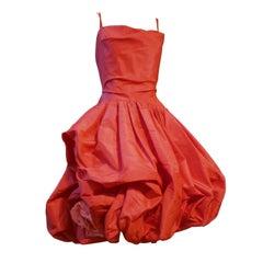 Spectacular 50s Pink Silk Bubble Dress