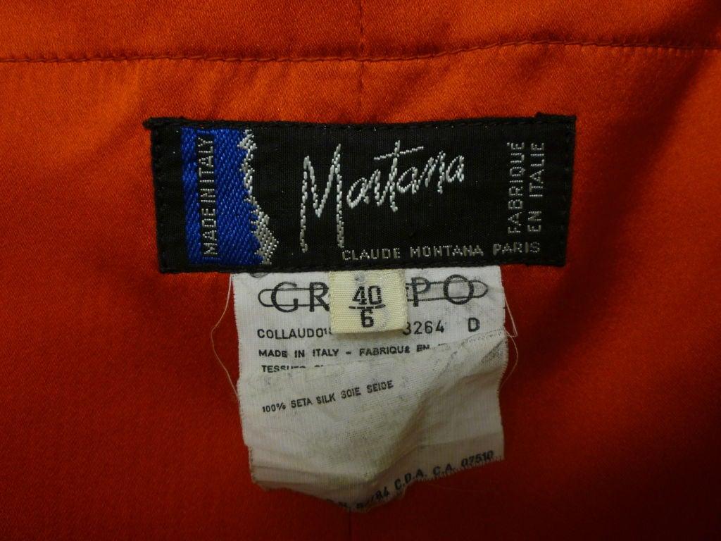 Claude Montana 80s Red Silk Satin Bustier Mini Dress For Sale 2