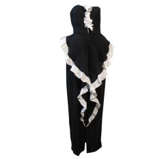 1980s André Laug Couture Gown