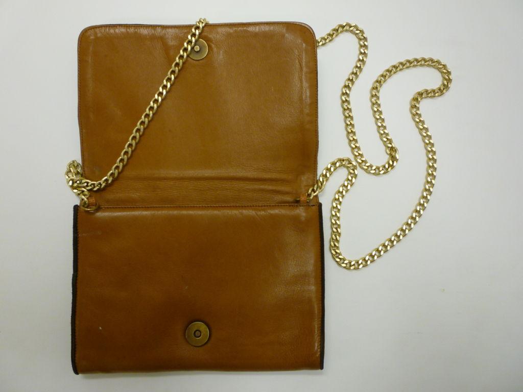 "Maud Frizon 80s Leather ""Kitty"" Shoulder Bag 3"