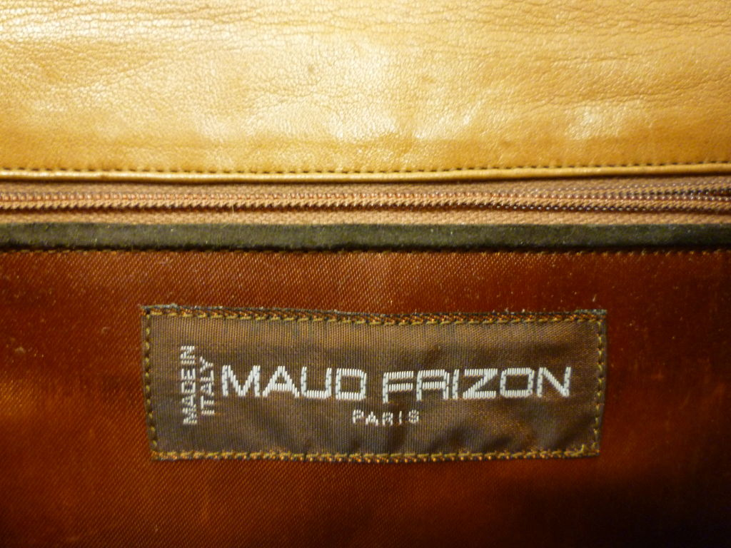 "Maud Frizon 80s Leather ""Kitty"" Shoulder Bag 4"