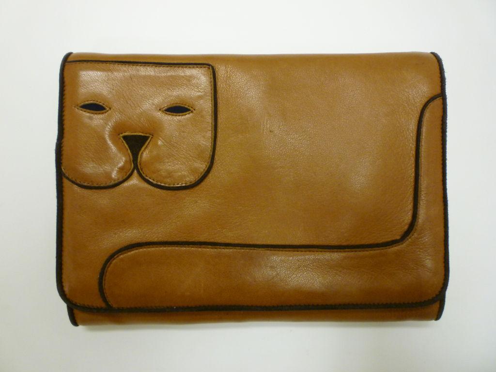 "Maud Frizon 80s Leather ""Kitty"" Shoulder Bag 5"