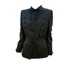 Gilbert Adrian 40s Gabardine Suit Jacket w/ Tab Detail
