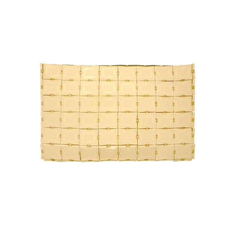 40s Plasti Flex Style Ivory Plastic Tile Clutch At 1stdibs