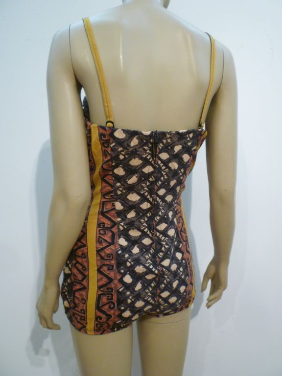 50s Tiki Print One-Piece Rose-Marie Reed Bathing Suit 3