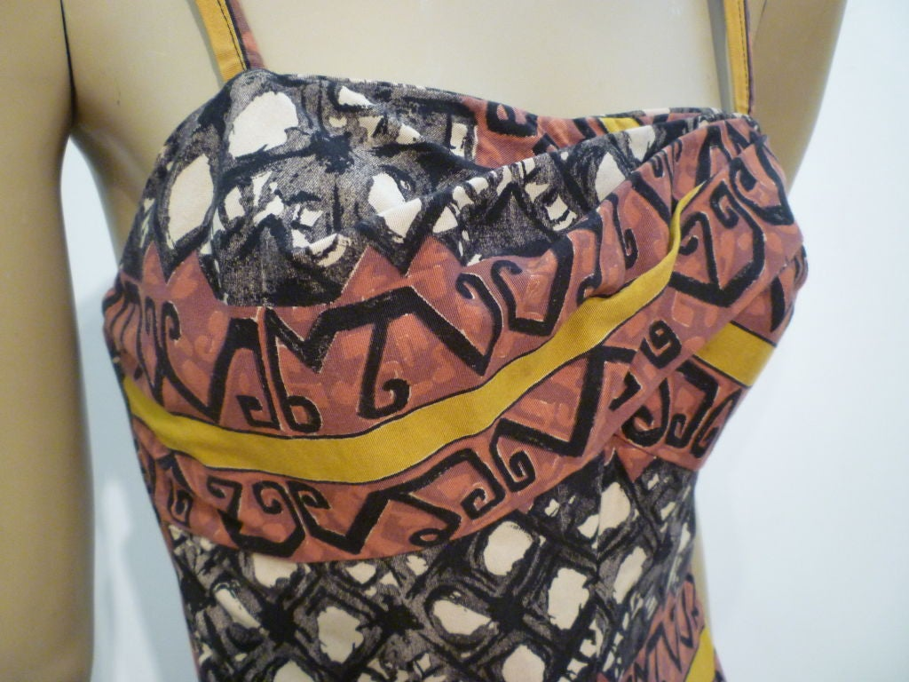 50s Tiki Print One-Piece Rose-Marie Reed Bathing Suit 5