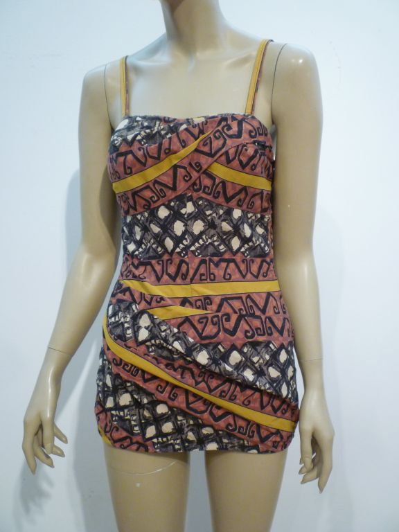 50s Tiki Print One-Piece Rose-Marie Reed Bathing Suit 7