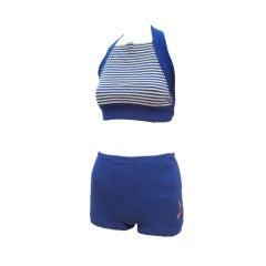 Jantzen 30s Two-Piece Wool Knit Beachwear