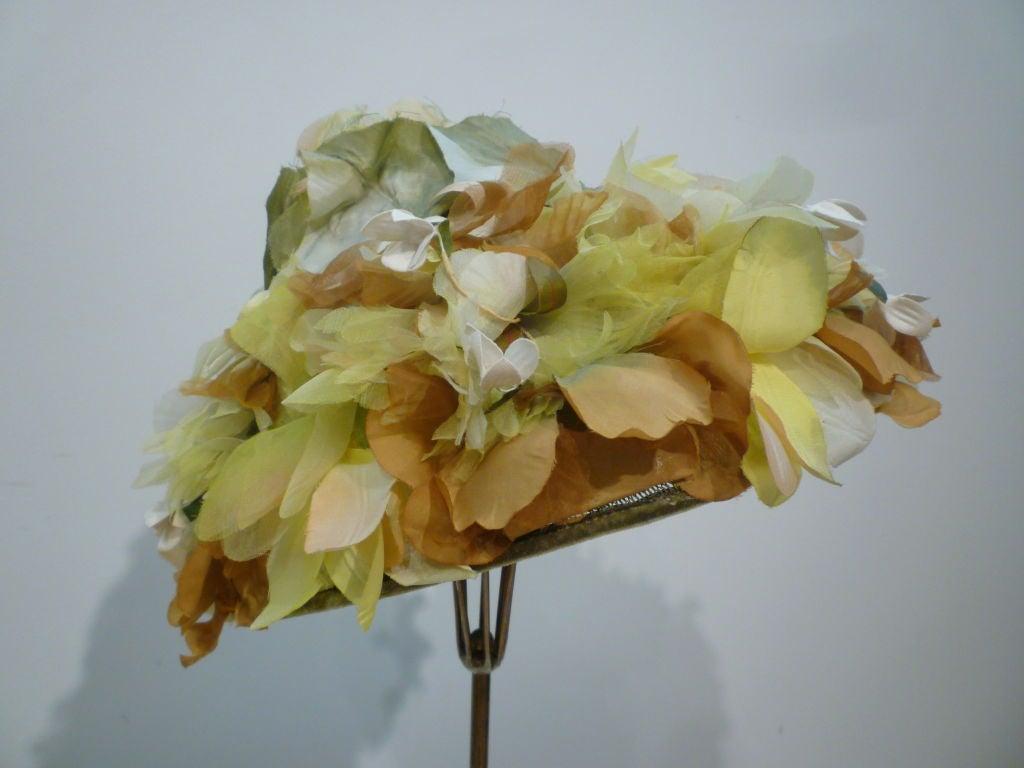 Elsa Schiaparelli  Silk Floral flowerpot Hat 2