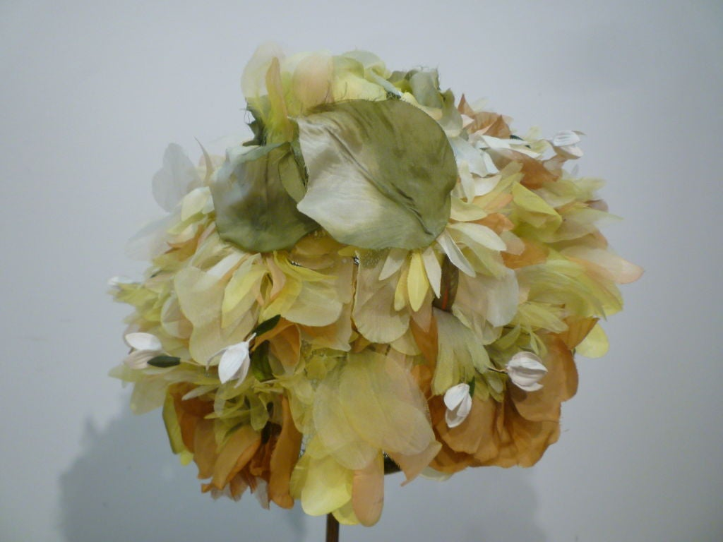 Elsa Schiaparelli  Silk Floral flowerpot Hat 3