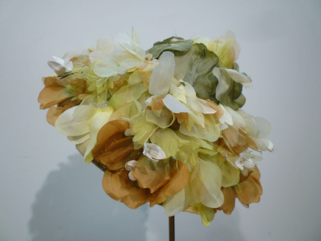 Elsa Schiaparelli  Silk Floral flowerpot Hat 6