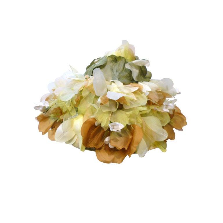 Elsa Schiaparelli  Silk Floral flowerpot Hat 1