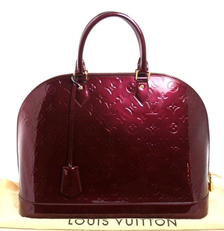 Louis Vuitton Rouge Fauviste Vernis Leather Alma GM 10