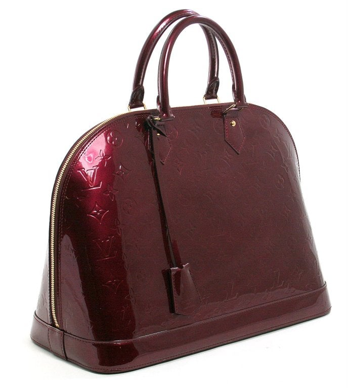 Louis Vuitton Rouge Fauviste Vernis Leather Alma GM 2