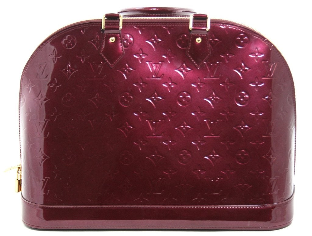 Louis Vuitton Rouge Fauviste Vernis Leather Alma GM 3