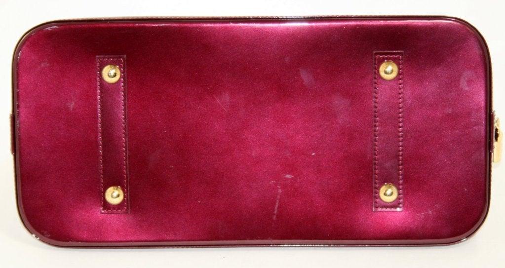Louis Vuitton Rouge Fauviste Vernis Leather Alma GM 4
