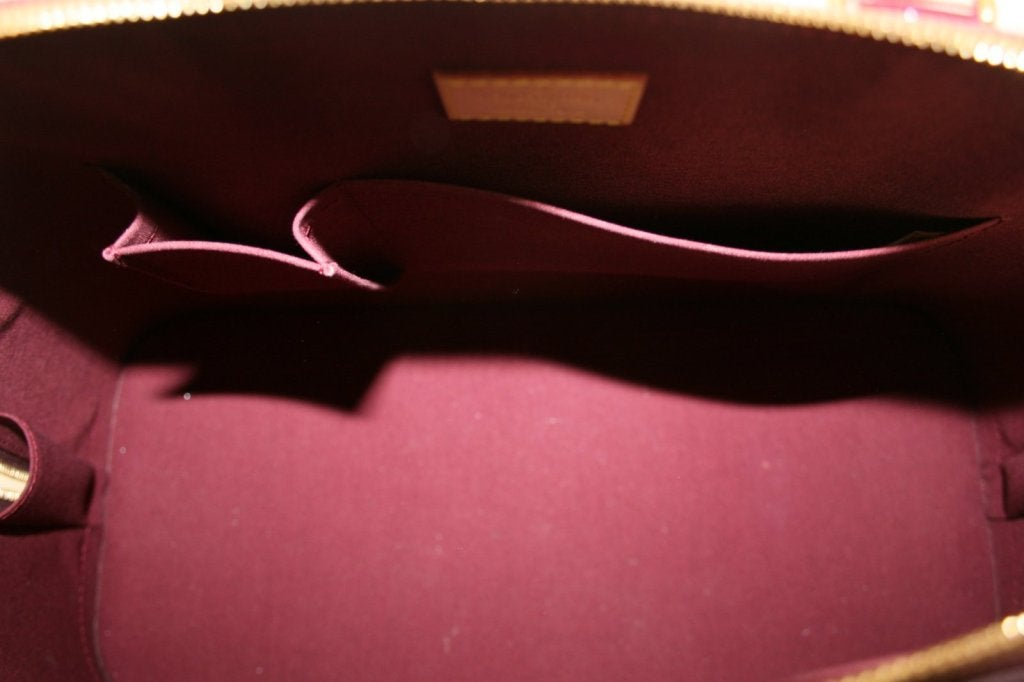 Louis Vuitton Rouge Fauviste Vernis Leather Alma GM 8