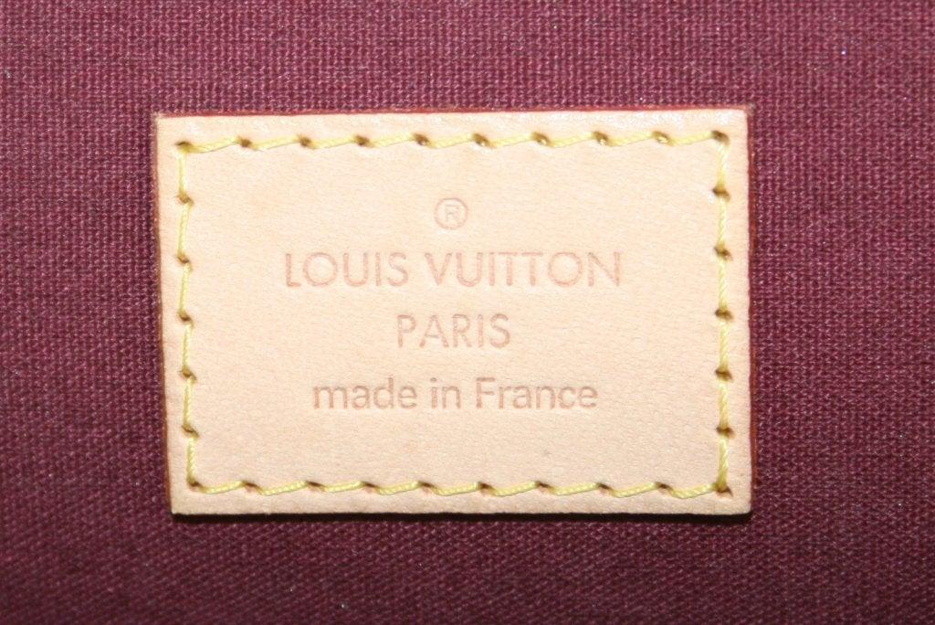 Louis Vuitton Rouge Fauviste Vernis Leather Alma GM 9
