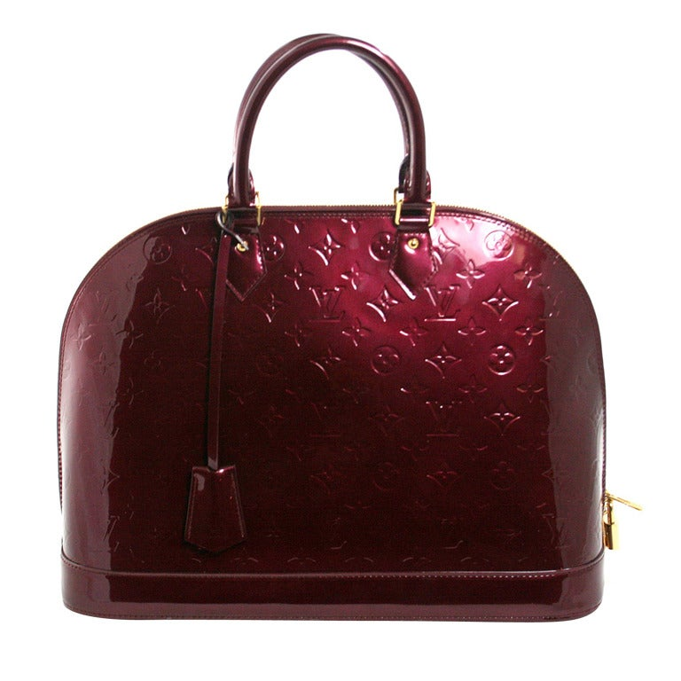 Louis Vuitton Rouge Fauviste Vernis Leather Alma GM 1