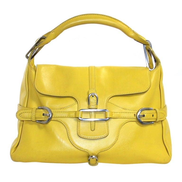 Jimmy Choo Yellow Leather Tulita Bag 1