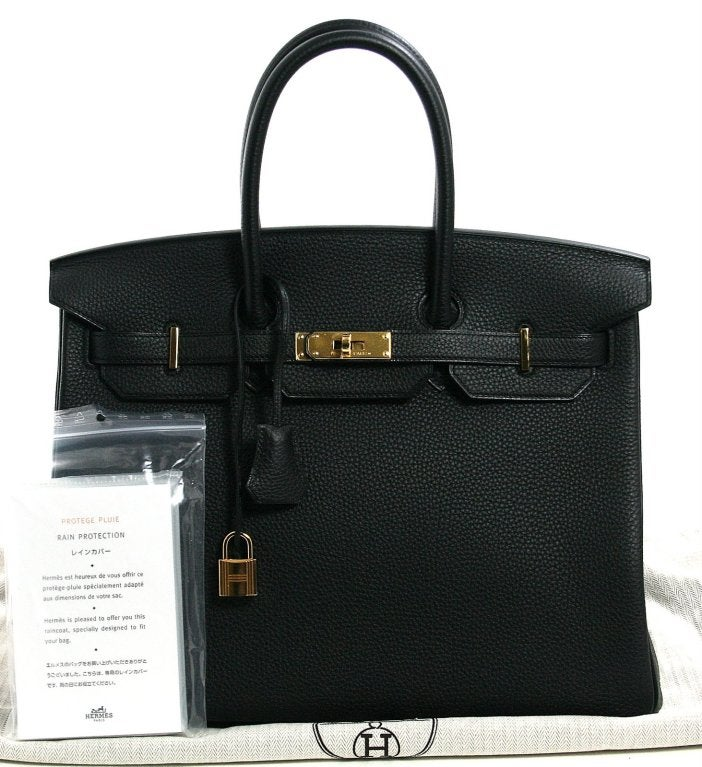 Hermès Black Togo 35 cm Birkin Bag with Gold Hardware 10