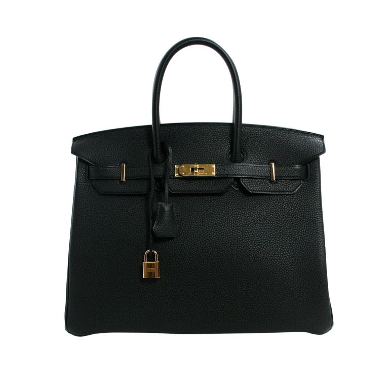 Hermès Black Togo 35 cm Birkin Bag with Gold Hardware 1
