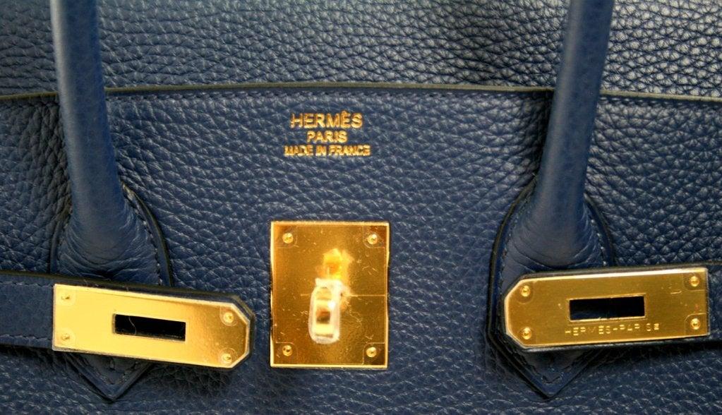 red hermes birkin handbag - Herm��s Blue Sapphire Clemence 35 Cm Birkin Bag at 1stdibs