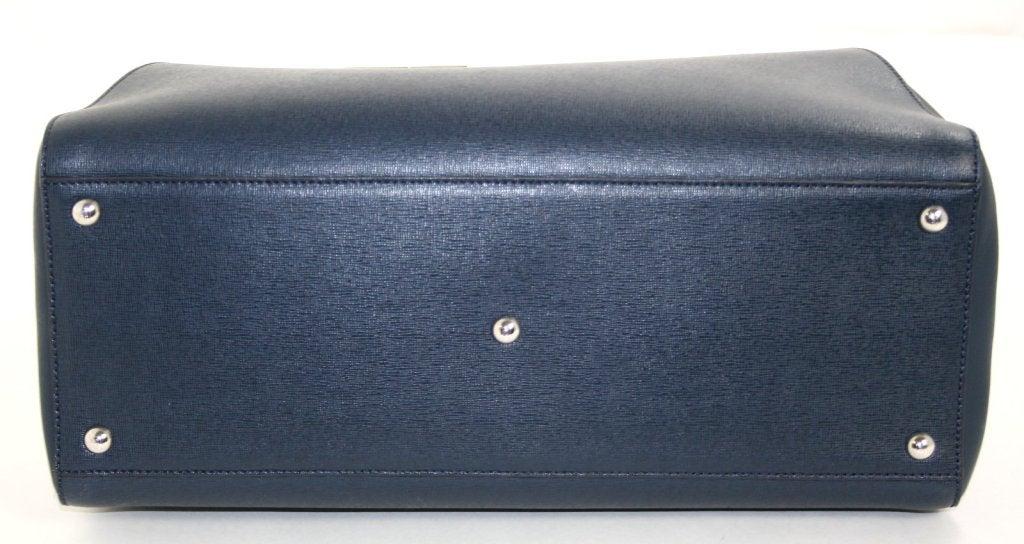 Fendi Blue Leather 2jours Large Shopper 6